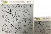The Crafter's Workshop Set of 2 Stencils – Time Travel 12x 12 Large and 15cm x 15cm Mini - Includes 1 each TCW201 and TCW201s - Bundle 2 Items