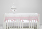 Just Born Crib Rail Guard Cover, Classic Pink