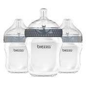 Baby Brezza 3-Pack 270ml Polypropylene Bottles in Grey
