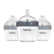Baby Brezza 3-Pack 150ml Polypropylene Bottles in Grey