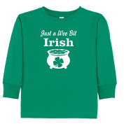 'Just a Wee Bit Irish' St. Patrick's Day Toddler/Youth T-shirt