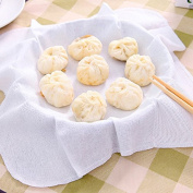 EQLEF® 4 PCS Pure Cotton Steamed Gauze Cotton Steamer Mat Dumpling Steamed Cloth Bun Steamed Gauze