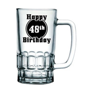 BRAND NEW 'Happy 48th Birthday' Birthday Beer Tankard/Stein/Mug - Exclusive to Mugs n Kisses Collection