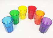 Harfield Pack of 6 Translucent American Style Copolyester Plastic Tumblers