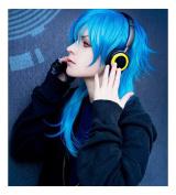 Kadiya Cosplay Wigs Long Blue Fashion Boy Christmas Halloween Synthetic Wig