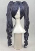 Kadiya Cosplay Wigs Long Wavy Clip On Pony Blue Girl Anime Costume Party Wig