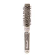 Ckeyin 2.5cm Nano Thermal Ceramic Ionic Round Barrel Hair Brush for Hair Drying, Styling, Curling