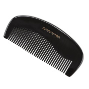 Exquisite Gift - Amammon Queen's Comb - No Static 100% Handmade Premium Quality Natural Oval Shaped Black Ox Horn Comb