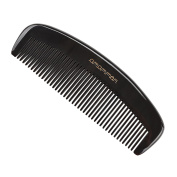 Exquisite Gift - Amammon No Static 100% Handmade Premium Quality Natural No Handle Fine Tooth Black Ox Horn Comb