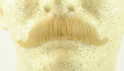 European Moustache BLONDE - 100% Human Hair - no. 2012 - REALISTIC! Perfect for Theatre - Reusable!