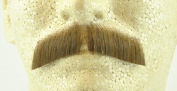 Gentleman Moustache LIGHT BROWN - 100% Human Hair - no. 2011 - REALISTIC! Perfect for Theatre - Realistic!