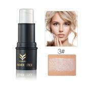 Shouhengda Highlighter Stick Shimmer Facial Bronzers Cream Powder Waterproof Face Cosmetics A7