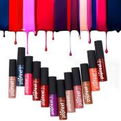 LUNIWEI 12 Colours Set Makeup Matte Lipstick Lip Gloss Pencil Beauty Long Lasting