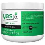Yes To Cucumbers Makeup Remover Pads - 45ct