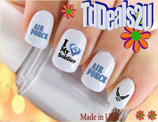 Military - Air Force Love my Solider - WaterSlide Nail Art Decals - Highest Quality! Made in USA