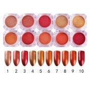 NICOLE DIARY10 Colours Pearl Powder 2g Shining Nail Glitter Manicure Nail Art Glitter Powder