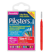 Piksters Interdental Brush Pack Of 40 Size 4 Red