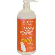Alba Botanica Very Emollient Bath and Shower Gel Honey Mango - 950ml