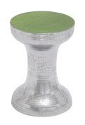 Deco 79 Aluminium Accent Table, 33cm by 43cm , Green