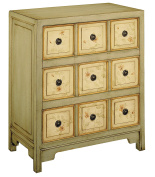 Stein World Furniture Apothecary Style Accent Chest, Light Green, Antique White