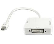 Connectland AD-MINI-DP-TO-HDMI-DVI-DP 3-in-1 Adaptor Mini DisplayPort to HDMI / DVI / DisplayPort White