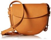 Skagen Lobelle Leather Mini Saddle Bag-Black