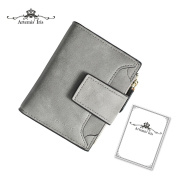 Artemis'Iris Women Mini Pocket Short Wallet Change Cards Coins Holder Synthetic Leather Trifold Clutch With Zipper Coins Pocket