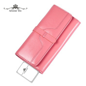 Artemis'Iris Women Luxury Genuine Leather Wallet Large Capacity Trifold Multi Card Slots Clutch Long Purse Handbag Hot Sell