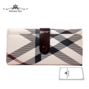 Artemis'Iris Womens Large Capacity Classic Style Wallet Trifold Clutch Money Cards Organiser Phone Holder Long Purse