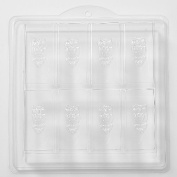 8 Cavity Owl Embossed On Rectangle Soap/Bath Bomb Mould Mould H02 x 10