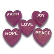 Inspirational Hearts Soap Mould. Melt & Pour with Copyrighted Instructions