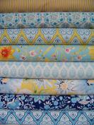 8 half-yard bundle of Dena Designs' SUNSHINE Home Decor fabrics - 4 yards total in Multi ~ 1.75 yards total