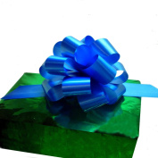 Royal Blue Decorative Gift Pull Bows - 13cm Wide, Set of 10