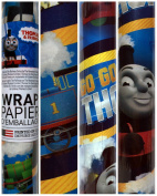 American Greetings Thomas Train Thomas and Friends Percy,James and Gordon Birthday Gift Wrapping Paper 1.9sqm Roll