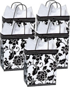 Nashville Wrap Cub Floral Brocade Glossy Paper Gift Bags Package of 5