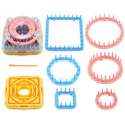 NUOLUX Flower Shape Knitting Looms Set Craft Kit Tool with Needle