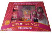 Girl & Doll Knitting Set Pom Pom Muff Scarf Headband Kit