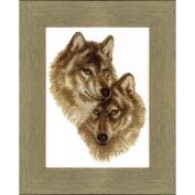 Cross Stitch Kit Wolves