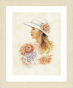 Lanarte Lady with Hat Cross Stitch Kit