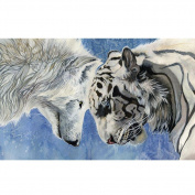 WinnerEco 5D Diamond DIY Painting Tiger Wolf Craft Kit Home Decor