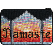Stitch & Zip Needlepoint Purse Kit- Namaste