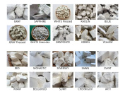 Set of samples of ALL TYPES edible natural CHALK & CLAY chunks for eating, 20 species