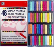 Drawing Chalk Pastels 48 Full Size Soft in Brilliant Assorted Colours