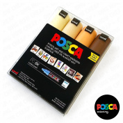 POSCA Colouring - PC-8K Skin Tone Set of 4 - In Plastic Wallet
