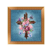 Doober Religious Embroidery 5D Diamond Painting DIY Flower Cross Stitch Home Wall Decor