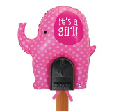 Welcome Home Baby - It's a Girl Pink Elephant Mailbox Balloon