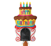 Happy Birthday Cake Balloon Mailbox Decoration, Reusable Party Decoration