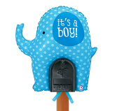 Welcome Home Baby - It's a Boy Blue Elephant Mailbox Balloon