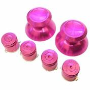 Gametown® PS4 Aluminium Hot Pink Thumbsticks + Bullet Buttons Set For Playstation 4 Controller