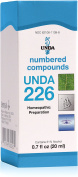 UNDA - UNDA 226 Numbered Compounds - Homoeopathic Preparation - 0.7 fl oz